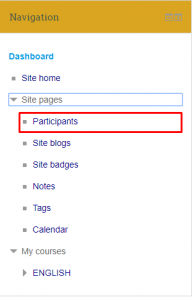 Moodle, Dashboard